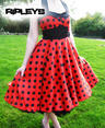 HELL BUNNY 50s VERA Red DRESS Polka Dot Emo  Thumbnail 3